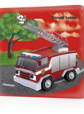 Мека гумена книжка за игра със свирка Canpol Happy Vehicles 6м+