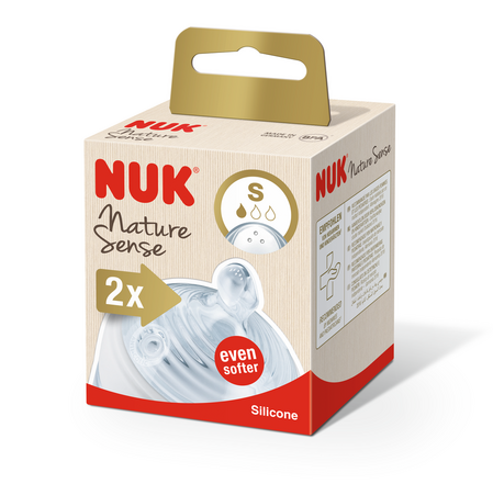 Биберони за хранене NUK NATURE SENSE Softer - S - 2бр.